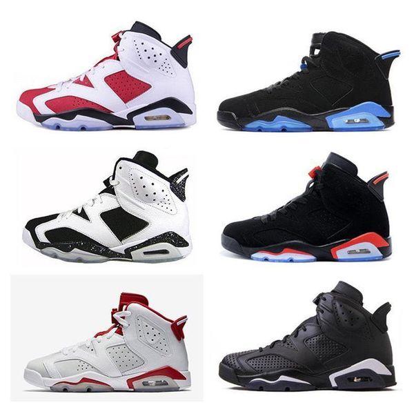 2019 Newest 6 Black Infrared 6s men Basketball shoes unc black cat Hare Carmine White fashion luxury mens women designer sandals shoes
