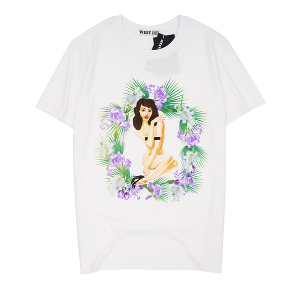 2019 latest HOT best Quality Flower Beauty Printing Classic style HOT SELL Summer clothes Short sleeved Fashion Trend JOKER T-SHIRTS TOPS