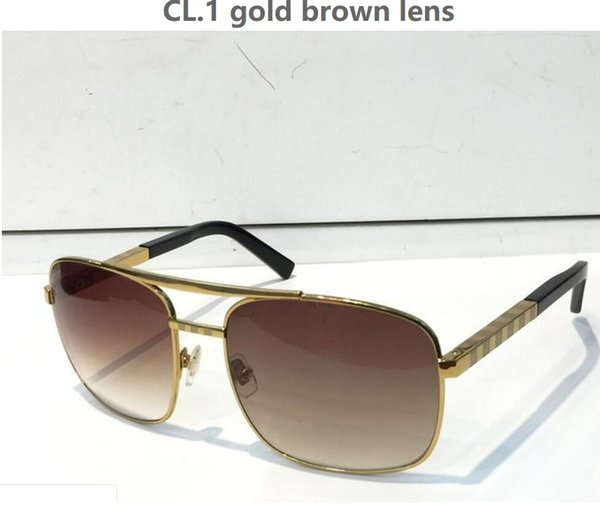 best selling Hot Luxury Attitude Sunglasses Fashion 0260 design UV Protection Lens Square Full Frame Gold Color Plated Frame Come With Package
