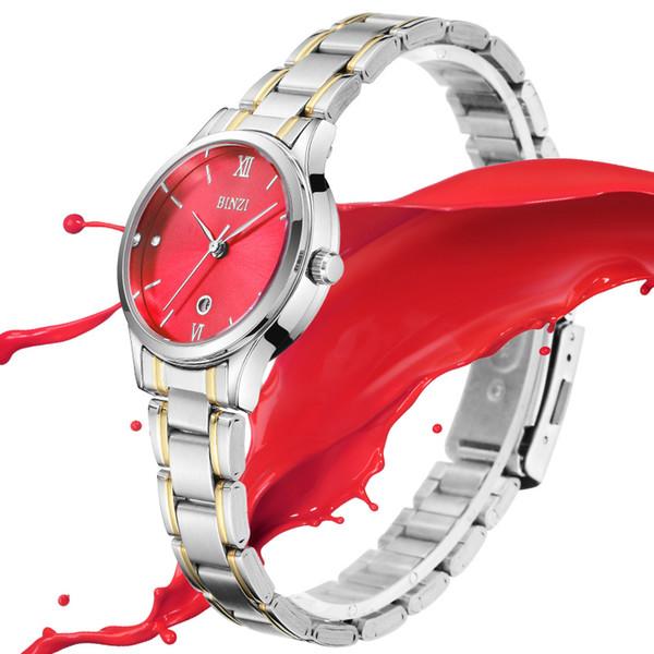 Orologio da polso da donna Moda casual Orologio al quarzo Orologio da polso da donna minimalista di lusso in argento per orologio femminile