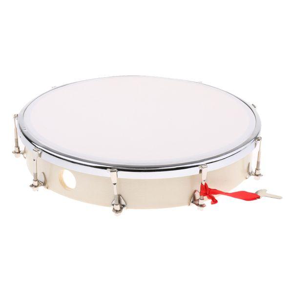 best selling Exquisite Wooden Handheld Drum Hand Percussion Instrument Tambourine