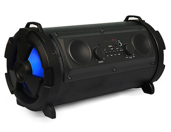 15W Big Power HiFi Wireless Bluetooth Speaker Outdoor Multifunction Subwoofer Cool LED Light Stereo Bass Music Player 8pcs DHL