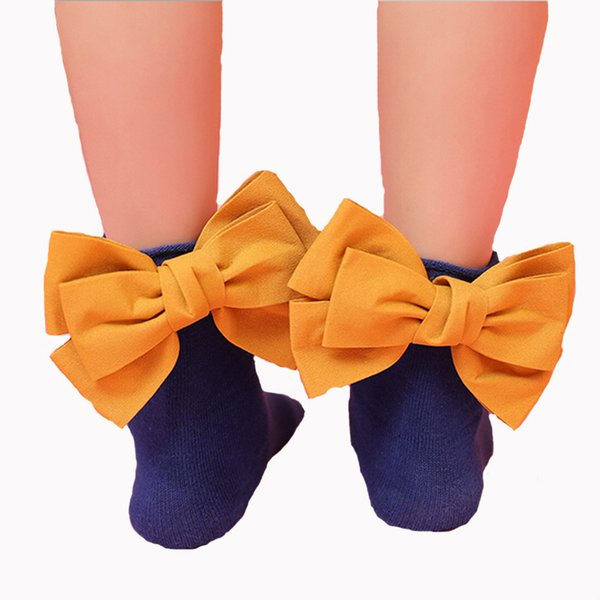 35074 Recém meninas meias hell bowknot algodão moda outono doce crianças crianças meias 1 pares pacote