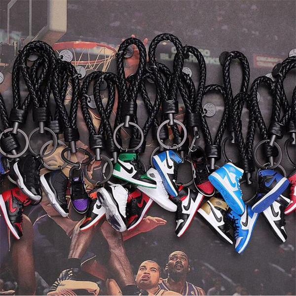 Chaveiro AJ Anel Chave Acessórios Encantos Sneaker Sapatos 3D Telefone Celular Correia Lanyard Sapatos de Basquete Modelo Popular Presente