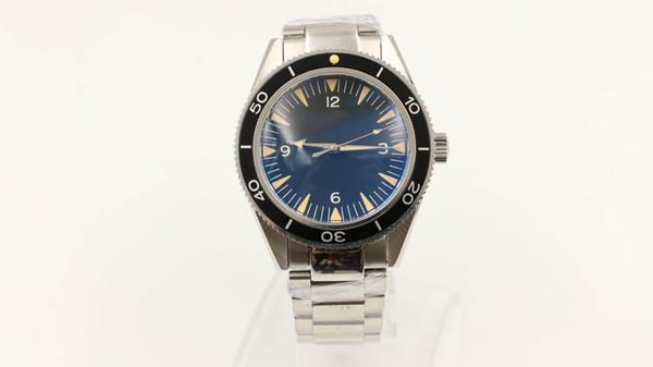 Yeni saatler usta siyah kadran paslanmaz çelik kayış şeffaf cam arka kapak otomatik hareketi saatler ücretsiz kargo