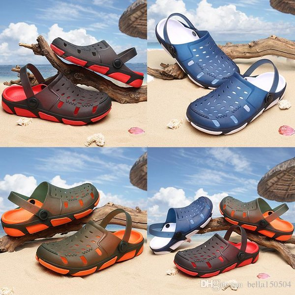 hot sale designer sandals Jelly Sandals Men Beach Slippers Male Light Weight Summer Eva Garden Shoes Breathable Hole Mens flip-flops