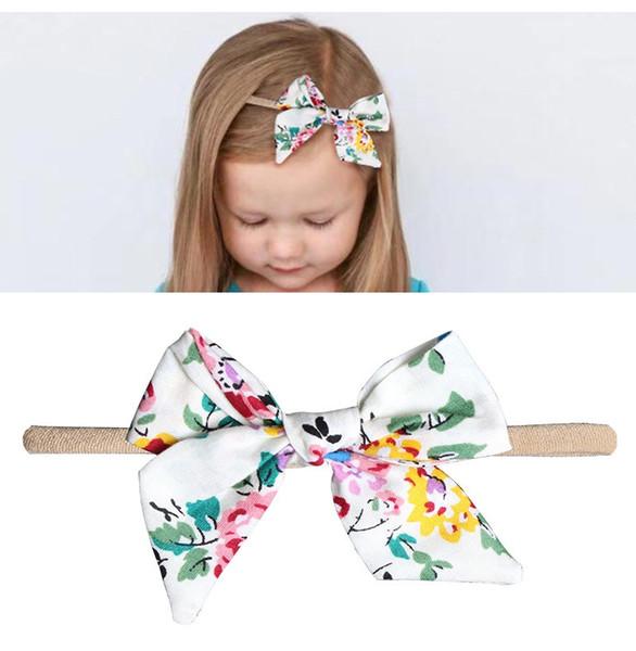 designer hair ties Bohemian Unicorn cotton girl baby bows Wrap Headband jojo siwa Head Floral Twisted Knot Soft Hair band Headbands hairbows