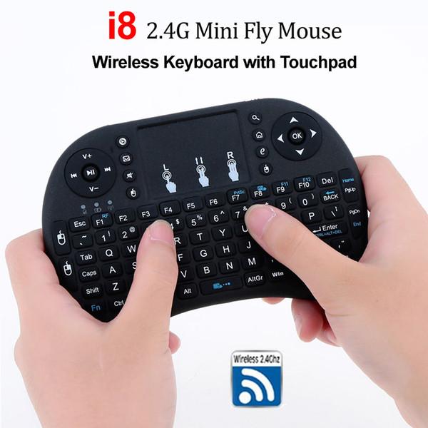 Mini tastiera wireless i8 2.4G Air Mouse con touchpad Telecomando Gamepad per lettore multimediale Android TV Box HTPC MXQ Pro M8S X96 Mini PC