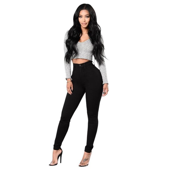Sejian Pop Trend Black Jeans Trousers Stretch Tight Jeans Womens Denim Pant For Girls Female High Waist Trousers