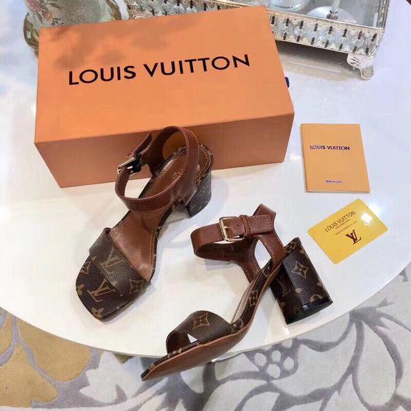 2019 nouvelles sandales à talons hauts en cuir pour dames en cuir souple, daim décontracté sandales noires à la mode pour dames à talons hauts, robe de soirée, chaussures de soirée