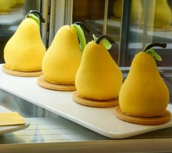 Moule de cuisson de gâteau de silicone de forme de la poire 3d pour des moules de pan de moule de Brownies à la truffe de mousse