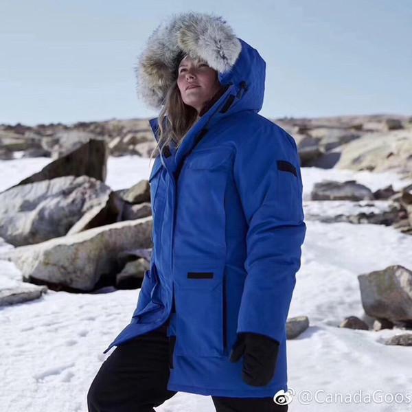 Parker Loup cheveux G00SE Outdoor Long Down Jacket EXPED1TION solide Homme Femme Couple TOP Qualité couleur hiver chaud Parc extérieur Manteau HFLSYRF092