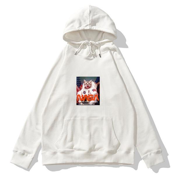 Gato del gatito del estilo de la calle de moda para mujer para hombre sudaderas con capucha astronauta Sweatershirts informal suéter marca con calidad superior B101740V