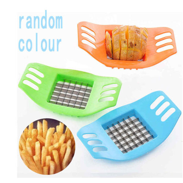 ABS + Stainless Steel Potato Cutter Vegetable Slicer Chopper Chips Device Fries Kitchen Cooking Tools Potato Vegetable Slicer