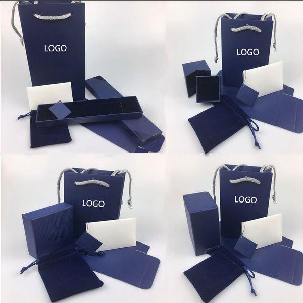 Confezione regalo Swarovski originale collana anello anello braccialetto confezione regalo contenente gioielli Swarovski borse garanzia tote bag fattura fattura