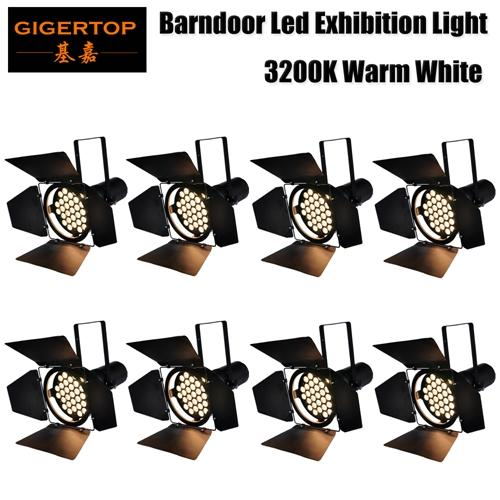 Gigertop 8 Pack High Power 31x10W White Color Warm White 3200K Exhibition Light For Car Show Table Background Projector Lighting