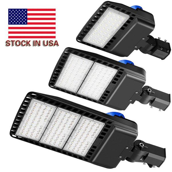LED Park (Fotoselli ile) Çok Işıklar 5000K LED Sokak Kutup Işık Taşkın Açık Kahverengi IP65 Ticari Hafif Yuvarlak Polo Kayma Fit Dağı