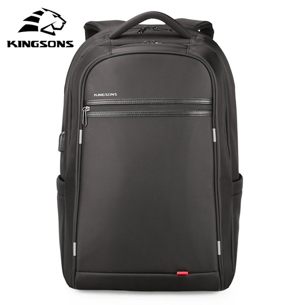 Kingsons Leisure Men USB Charging Backpack Teenager Large Capacity Computer Bag for 17'inch Laptop Unisex Anti-theft Book Bag
