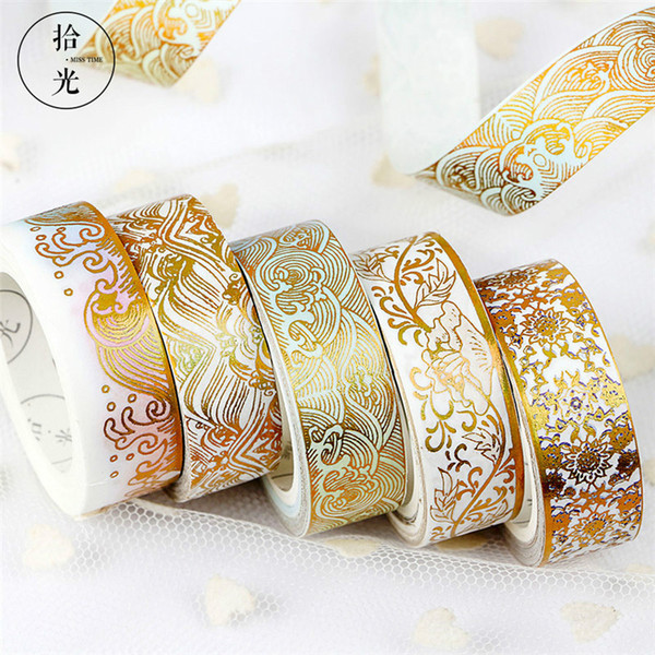 best selling Chinese Style Series Coloured Glaze Pattern Masking Washi Tape Decorative Adhesive Tape Scrapbooking Stationery School Supplies 2016