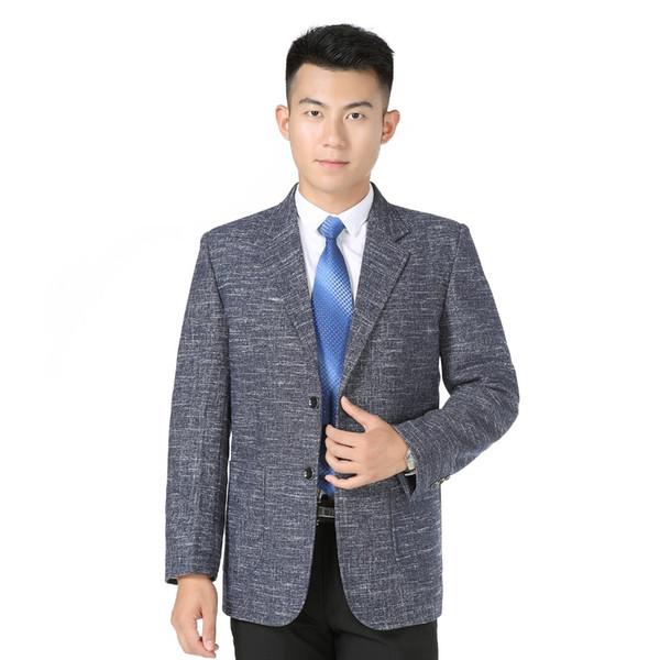 WAEOLSA Men Elegance Blazers Gray Red Khaki Suit Jackets Man Notched Collar Outfits Business Casual Blazer Male Office Suit XL