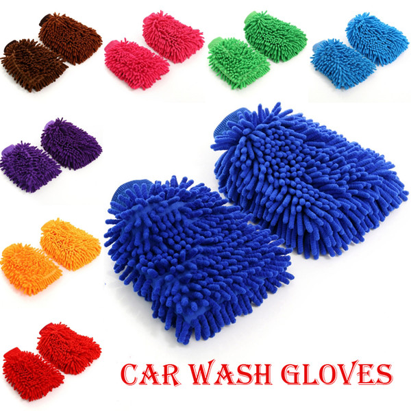 New Premium Car Wash Microfiber Chenille Mitt Ultrafine Sponge Fiber Glove Professional Cleaning At Home,Kitchen,Hand Car Washing Care M126F