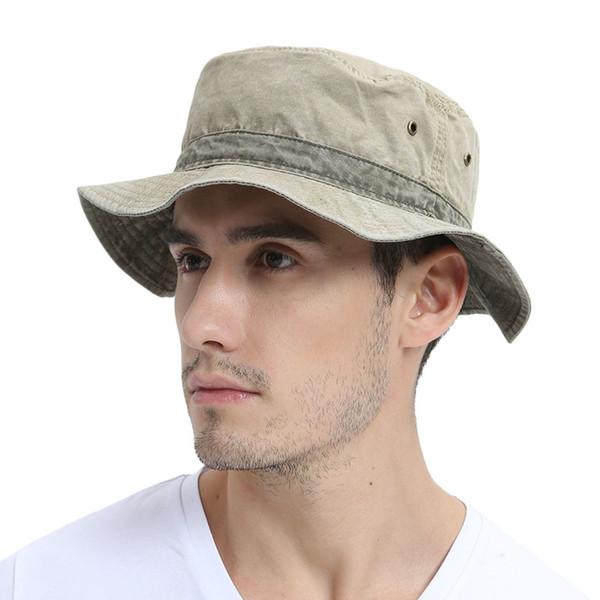 Bucket Hat Mens Bob Summer Outdoor Fishing Wide Brim Hat UV Protection Cap Men Hiking Sombrero Outdoor Hats
