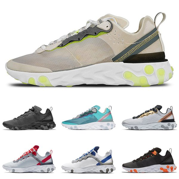 Compre NIKE AIR MAX 87 TA VAS React Element 87 Undercover Men Running Shoes For Mens Designer Sneakers Sports Mens Trainer Shoes Sail Good Chaussure