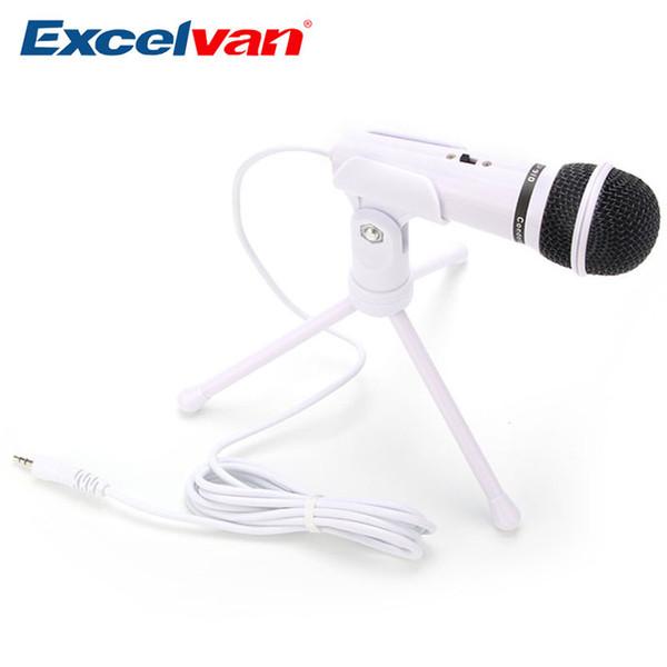 Excelvan Mikrofon Omnidirektionales 3,5 MM Mikrofon Professionelle Kondensatoranzug PC Für Voice-Chat-Spiele Sprache mikrofon