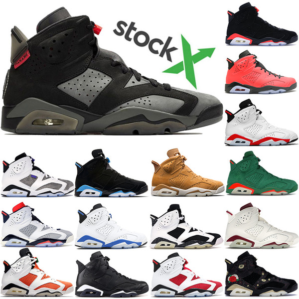 High quality Jumpman 6 6s PSG 2019 Black Infrared Flint Tinker Black Cat basketball shoes men mens Maroon Be Like Mike sneakers trainers