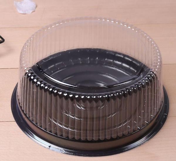 Großhandelsgroßer runder Kuchenkasten / 8 Zoll Käsekasten / freier Plastikkuchenbehälter / großer Kuchenhalter