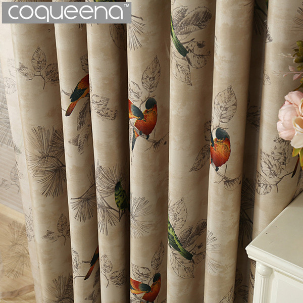 Acquista Vintage Birds Print Country Tende Soggiorno Camera Da Letto  Decorativa Cucina Tende Tende Trattamenti Finestre Stile Rustico A $33.73  Dal ...