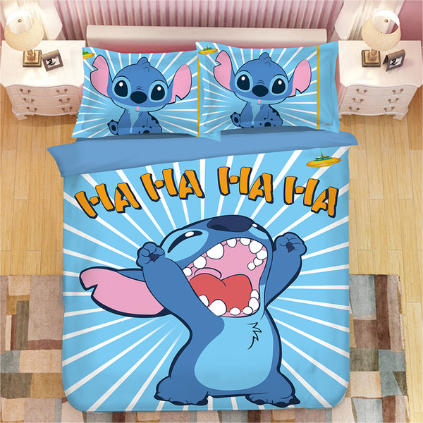 3D Home Stitch Bedding twin size bed cover set queen bedroom decor for kids home single bedspread boy's linen polyester