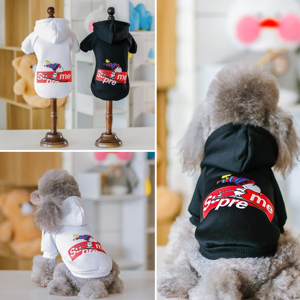 Autumn And Winter The New Dog Plus velvet Sweatshirt Letter fashion print Dog coat animal picture dog's clothes factory wholesale