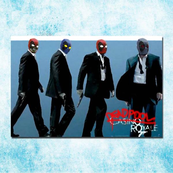 1 Unids Deadpool Superhero Hot Movie Art Seda Poster Impresión de la Lona Wall Art Pictures Home Decor Pinturas Modernas