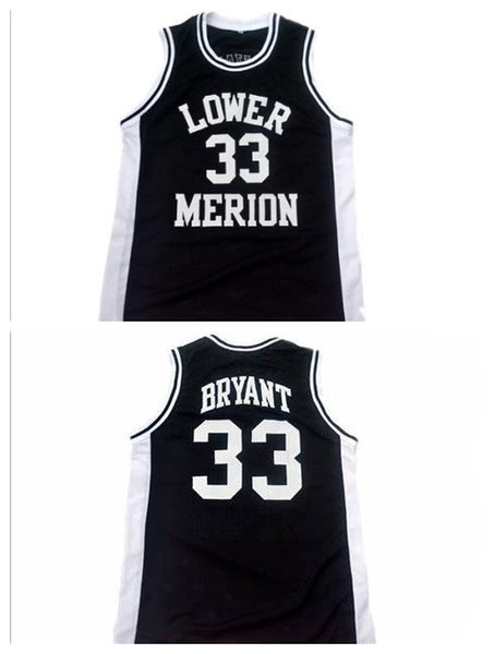 top popular NCAA Lower Merion 33 Bryant Jersey College Men High School Basketball Red White Black Stitched 2020 Hot Selling S-XXL 2020