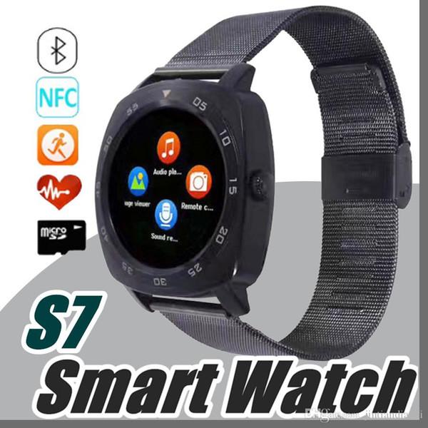 Çelik Tam Yuvarlak Elektronik Akıllı İzle X3 S7 Akıllı Monitör Apple Androld Iphone Smartwatch için Uyku Tracker Giyilebilir Cihazlar U-BS