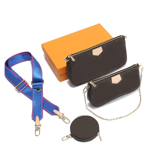 top popular 2020 Hot sales Women's Genuine leather Three piece suit Fashion shoulder bag handbags Multi Pochette Accessories free shipping 2020
