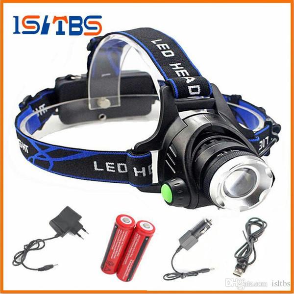 LED Headlight 5000lm L2 led headlamp zoom head flashlight adjustable headlamp Optional accessorie 18650 battery front light