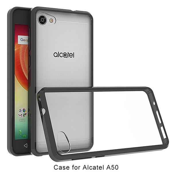 Acrylic+TPU Hard Transparent Cover Case for Alcatel A50 Crave A5 A30 Plus idol 5 REVVL A30 Fierce Walters/5049 Anti-scratch Clear Hybrid