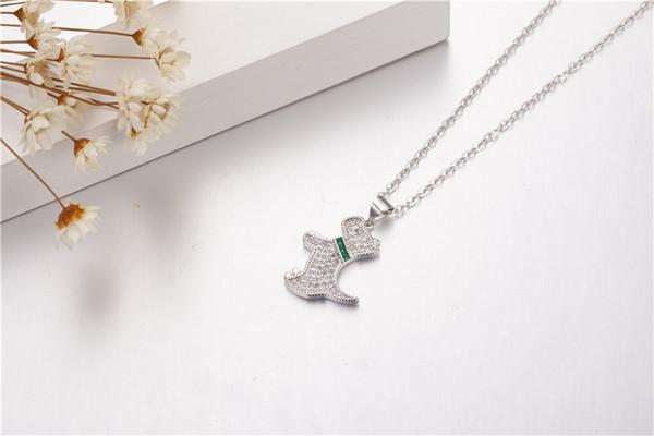 Wholesale Brand Lovely Dog Pendants Diamond Cz Real 925 Sterling