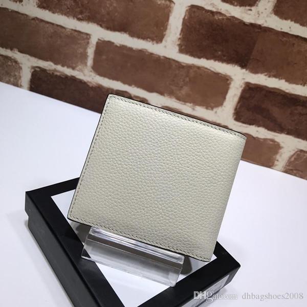Portafogli da donna con logo stampato di alta qualità per uomo e donna Porta biglietti da visita in vera pelle con scatola 496309 11x9cm