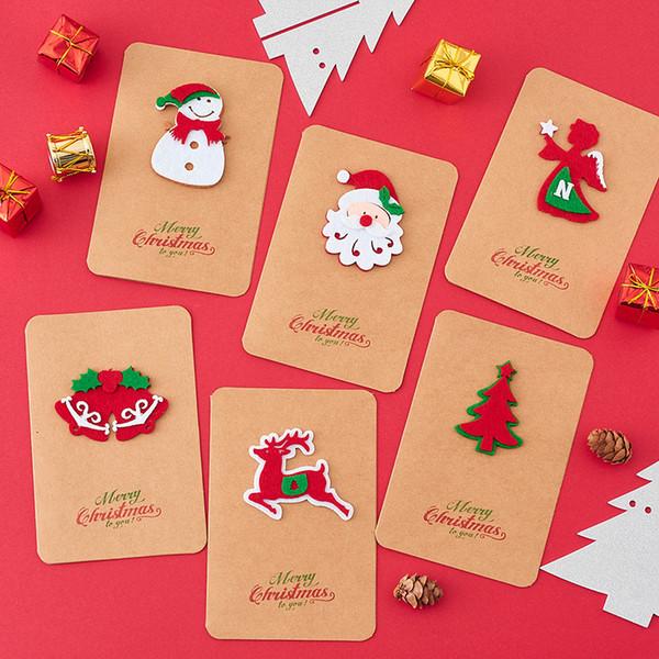 Compre 1 Unid Vintage Kraft Tarjeta De Felicitación De Navidad 3d Bendición Tarjeta De Regalo De Acción De Gracias Accesorios De Invitación De