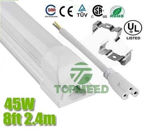 CER UL integrierte 2.4m 8ft T8 45W geführte Leuchtröhre 4800lm 85-265V geführte Beleuchtung ersetzen Leuchtstoffröhre-Lampenbirne + Garantie 3Years X30