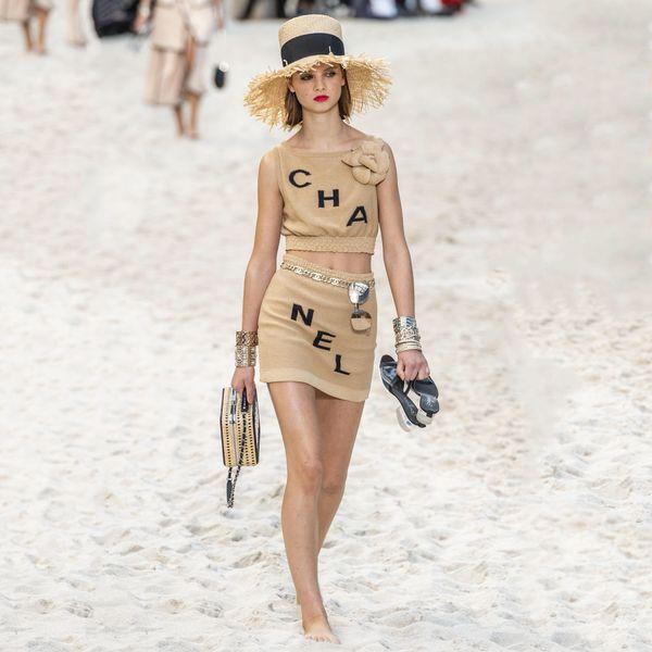 Kadın Iki Parçalı Elbise Kavisli Boncuk Ince Kesit Dikiş Moda Örme Buz Ipek Takım Elbise Büyük Çiçekler ile Iki Parçalı Setleri