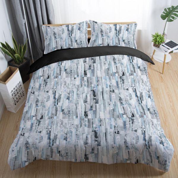 Großhandel Bettwäsche Set Abstrakte Marmor Riss Textur Bettwäsche Naturstein Muster Bettbezug Aquarell Blau Weiß Bett Set Von Zhexie 64 95 Auf