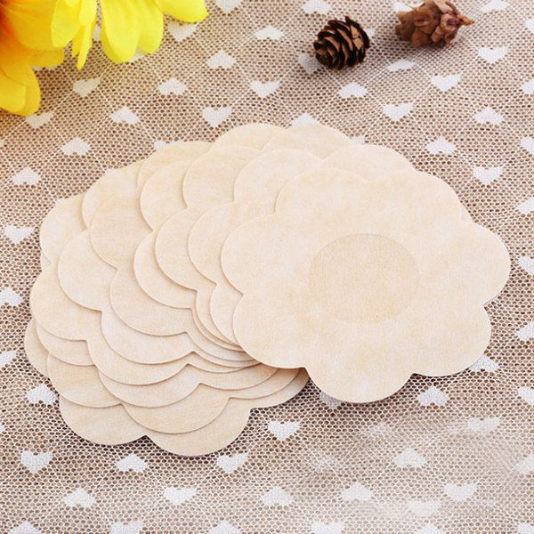 New Women Chest Paste Round Heart Plum blossoBreasts Stickers Invisible Breast Bra Pads Nipple Cover Chest Paste F0027