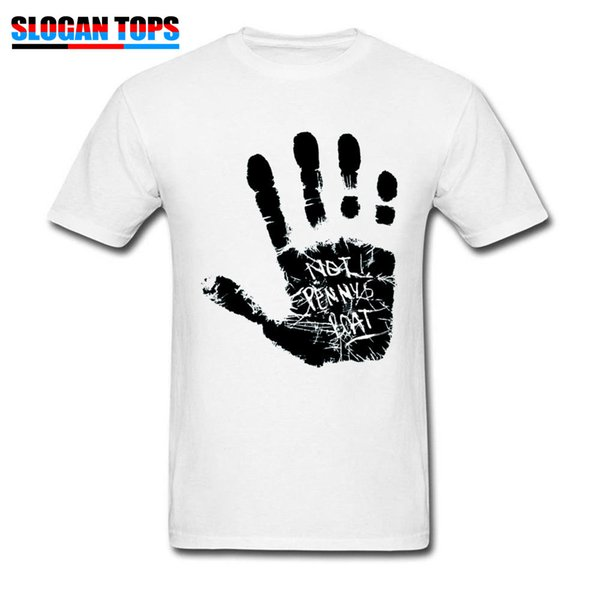 Lost Season Mens Tshirt Europe Size Men T-shirt Not Pennys Boat Handprint Male Clothing 2019 Man Tops White Tees Adventure Time