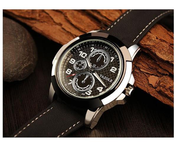Explosive fashion designer hot luxury brand high-end European and American style men's imitation 6-pin three-eye quartz waterproof watch