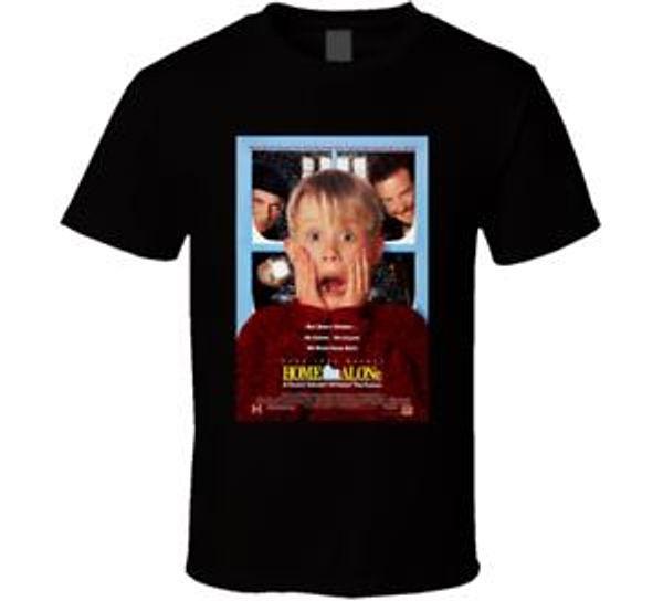 Accueil seul Cool 90 039 s Comédie Vintage Classique Affiche de film Fan Hommes 039 s T Shirt BlaCustom