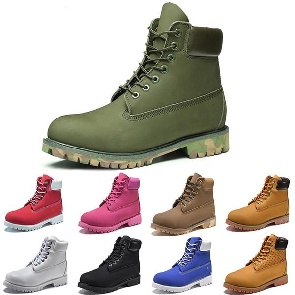 Timberland 2019 Nova ACE Original Marca botas Designer de Inicialização Martin Boot Chestnut Triplo Branco Preto Camo Botas de Inverno tamanho 36-46 Dropship Por Atacado